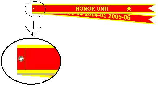Honor Unit with Star (Ribbon #228)